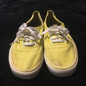 Yellow Authentic Vans